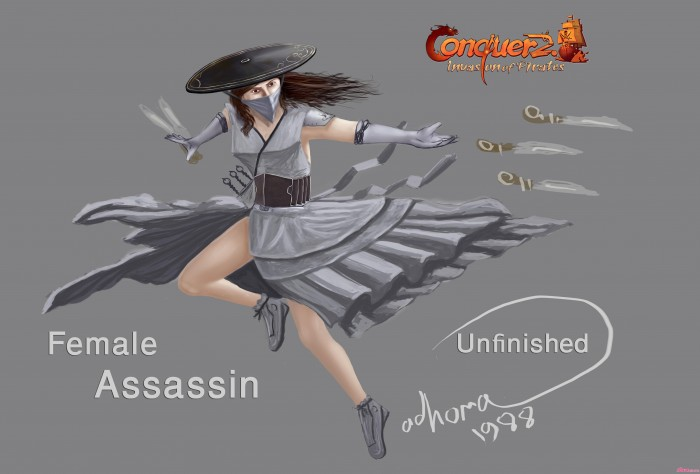 female assassin unfinished CO