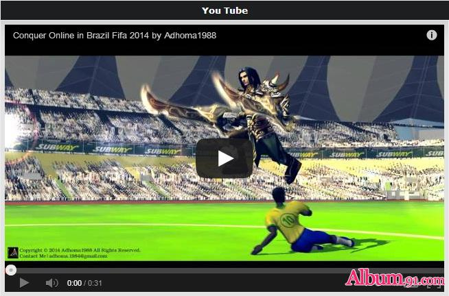 Conquer Online in Brazil Fifa 2014 3D Video